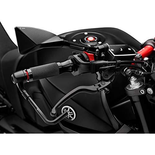 Rizoma Motorradgriffe Lenkergriffe Sport Alu für 22mm GR205B schwarz, Unisex, Multipurpose, Ganzjährig, Aluminium